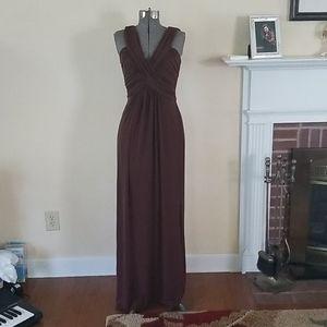 BCBG Paris Long maxi dress - brown - size 6